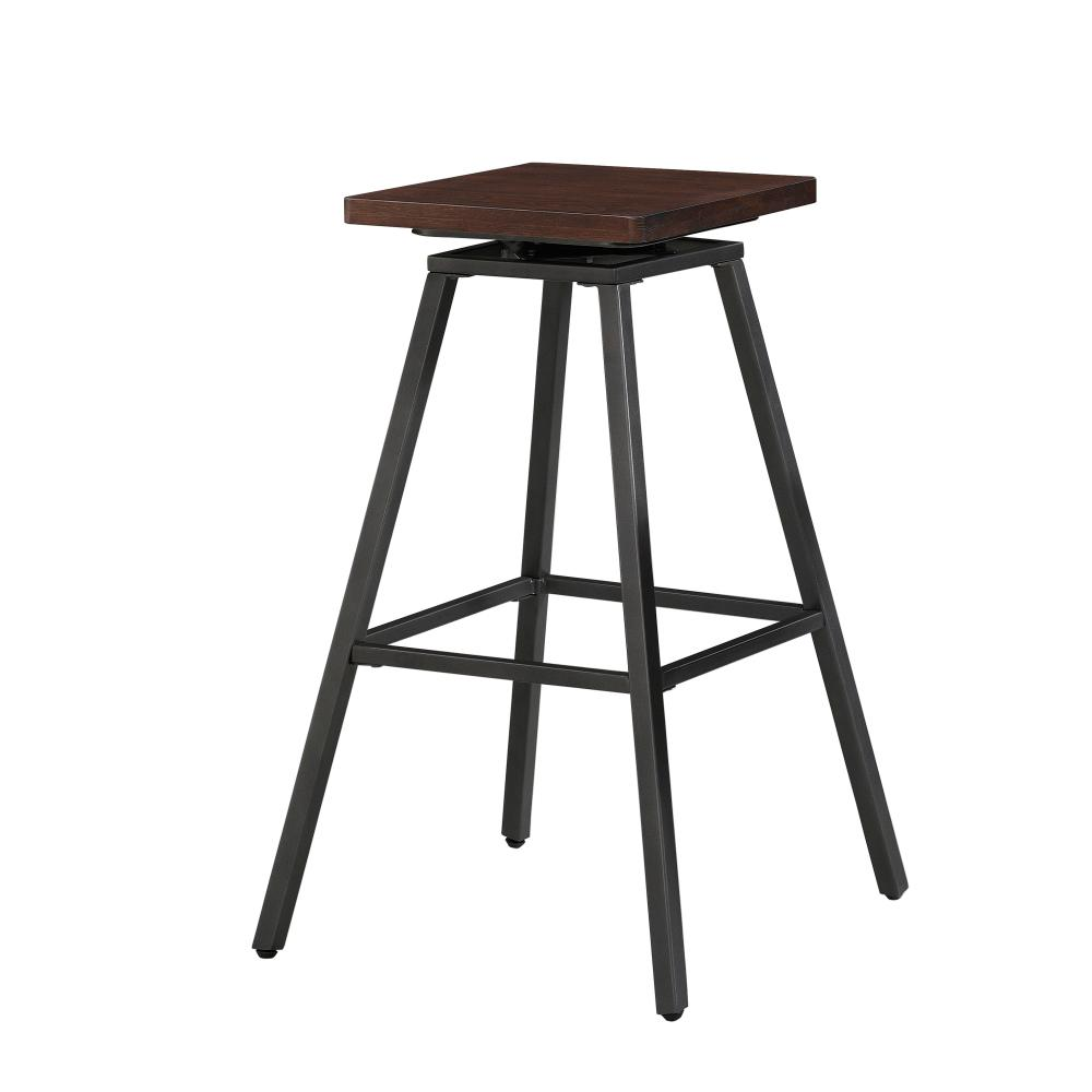 American Woodcrafters Clifton 30 In Walnut Backless Swivel Bar Stool