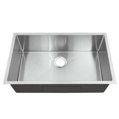 Hardy Undermount 33 in. Single Bowl Kitchen Sink in Stainless Steel