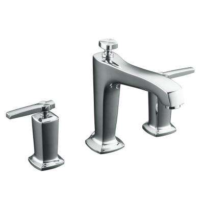 Margaux 2-Handle Deck-Mount High-Flow Bath Faucet Trim Kit in Polished Chrome (Valve Not Included)