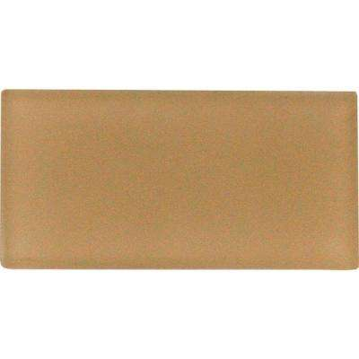 Caramel 3 in. x 6 in. Glass Wall Tile (1 sq. ft. / case)