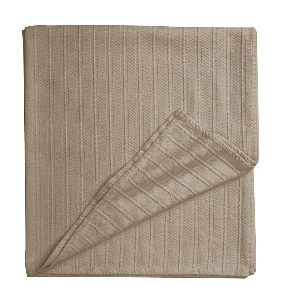 Legends Egyptian Cotton Cobblestone Full Woven Blanket