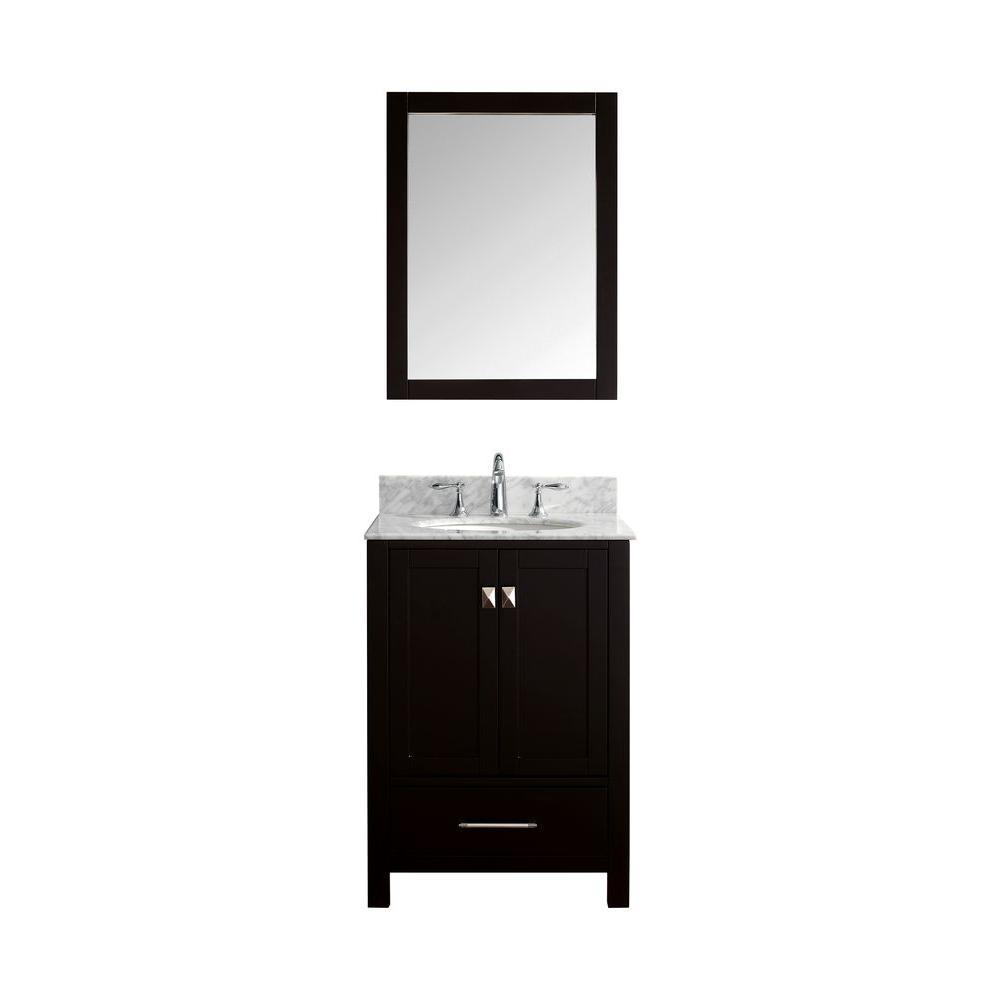 Virtu Usa Caroline Avenue 24 In W X 36 H Vanity With Marble
