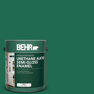 1 gal. #P430-7 Sparkling Emerald Urethane Alkyd Semi-Gloss Enamel Interior/Exterior Paint
