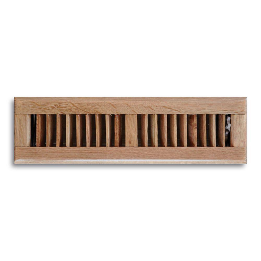 2 in. x 12 in. Oak Floor Diffuser