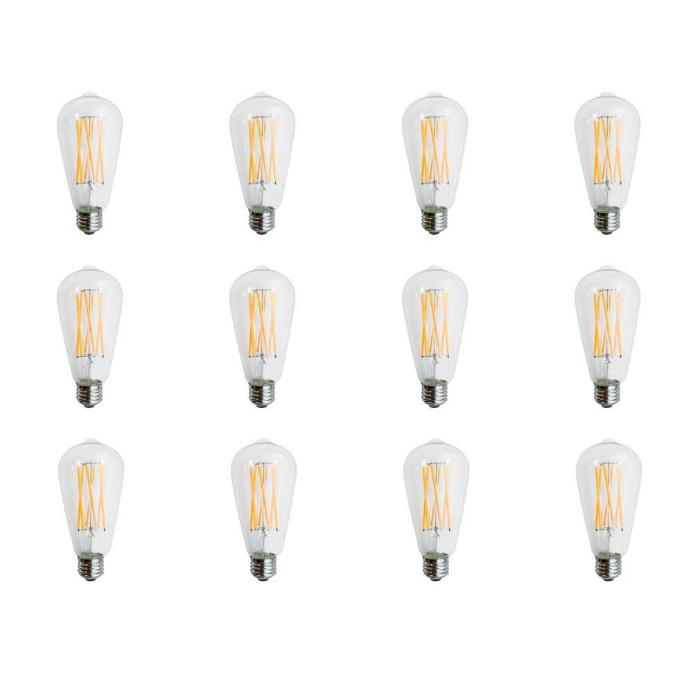 60-Watt Equivalent (2700k) ST18 LED Light Bulb Warm White (12-Pack)