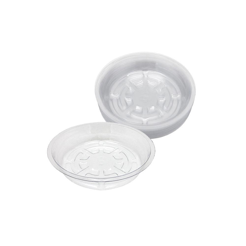 6 in. Clear Plastic Saucer (25-Pack)
