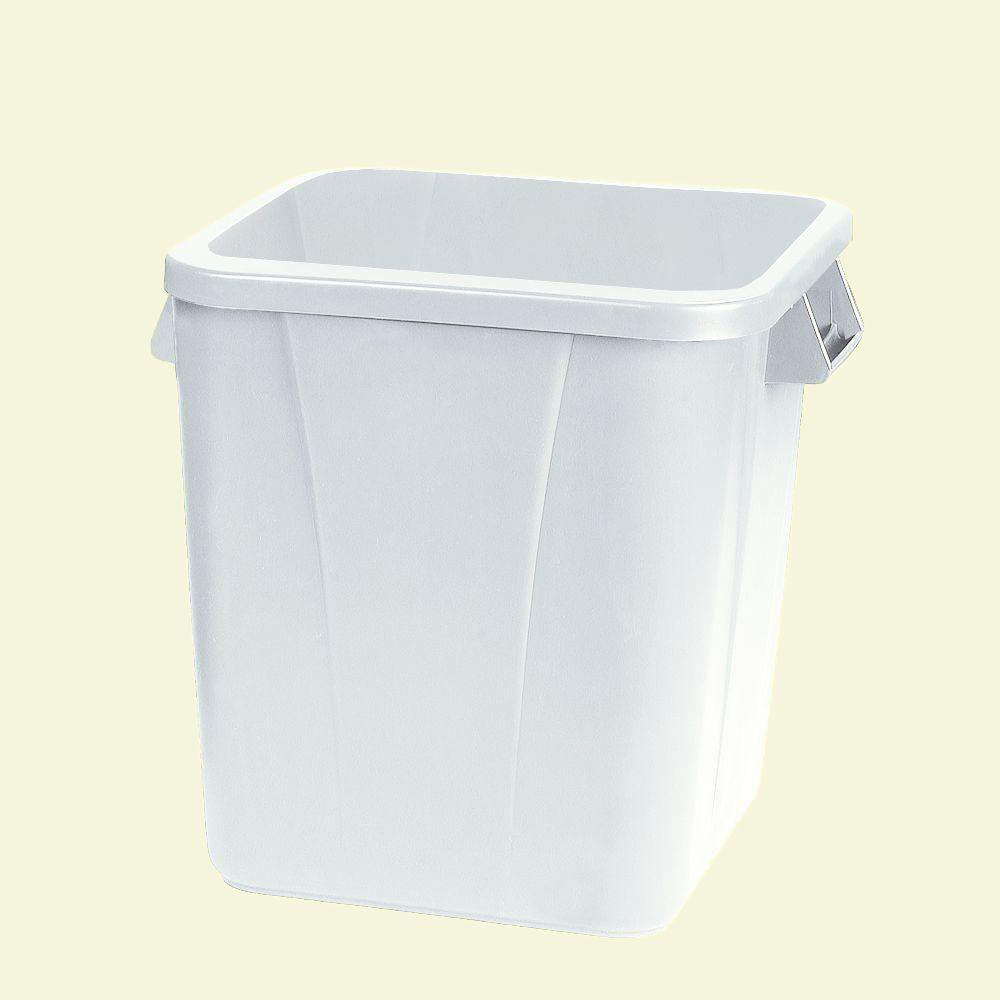 Carlisle Bronco 28 Gal. White Square Trash Can (6-Pack)-34152802 ...