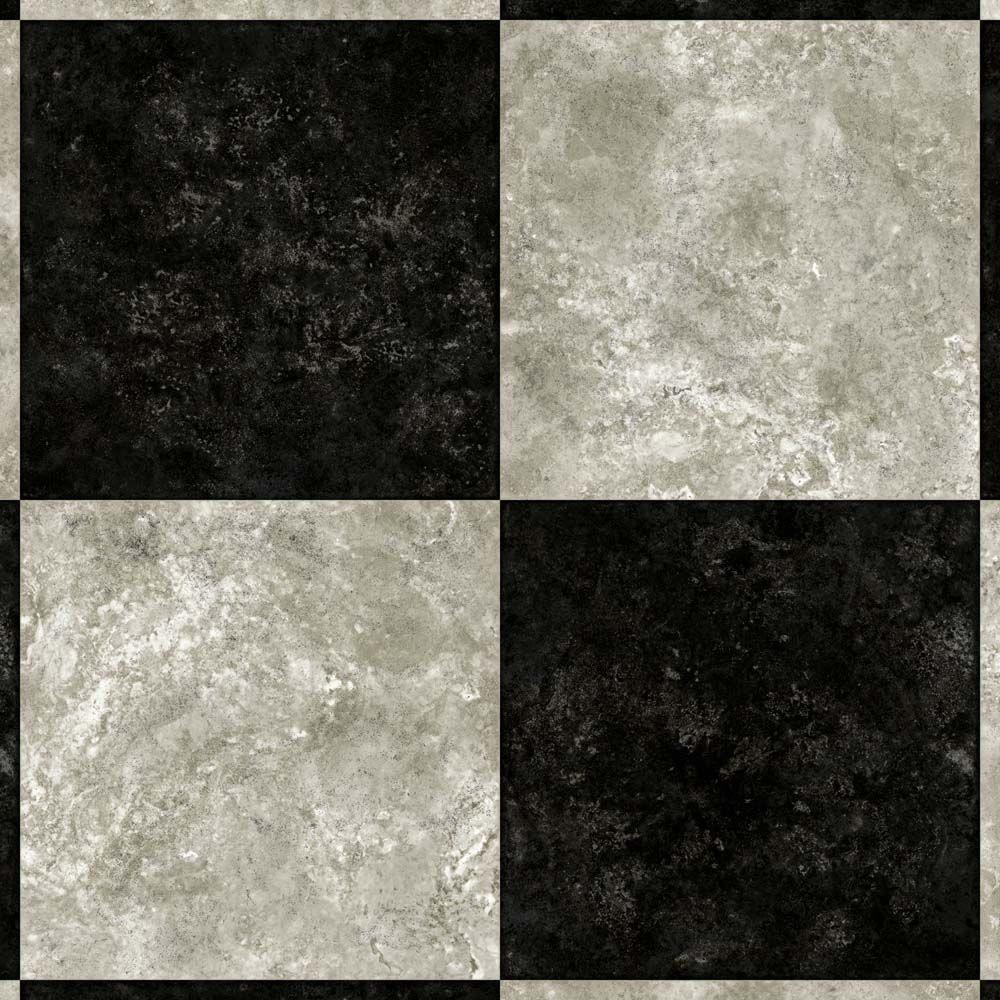 Armstrong 12 Ft Wide Caspian Ii Checkerboard Gray Vinyl