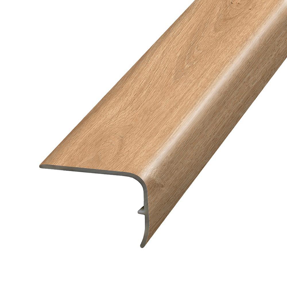 Kinglet Oak 1.32 in. T x 1.88 in. W x 78.7 in. L Vinyl Stair Nose Molding
