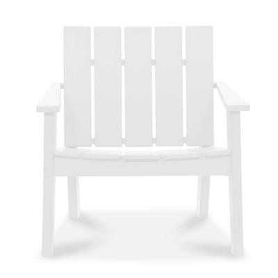 Cabana White Recycled Plastic Big Daddy Outdoor Lounge Chair
