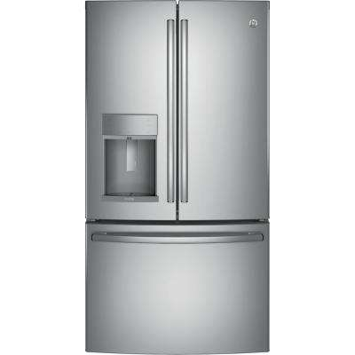 36 in. W 22.2 cu. ft. French Door Refrigerator with Door-in-Door in Stainless Steel, Counter Depth