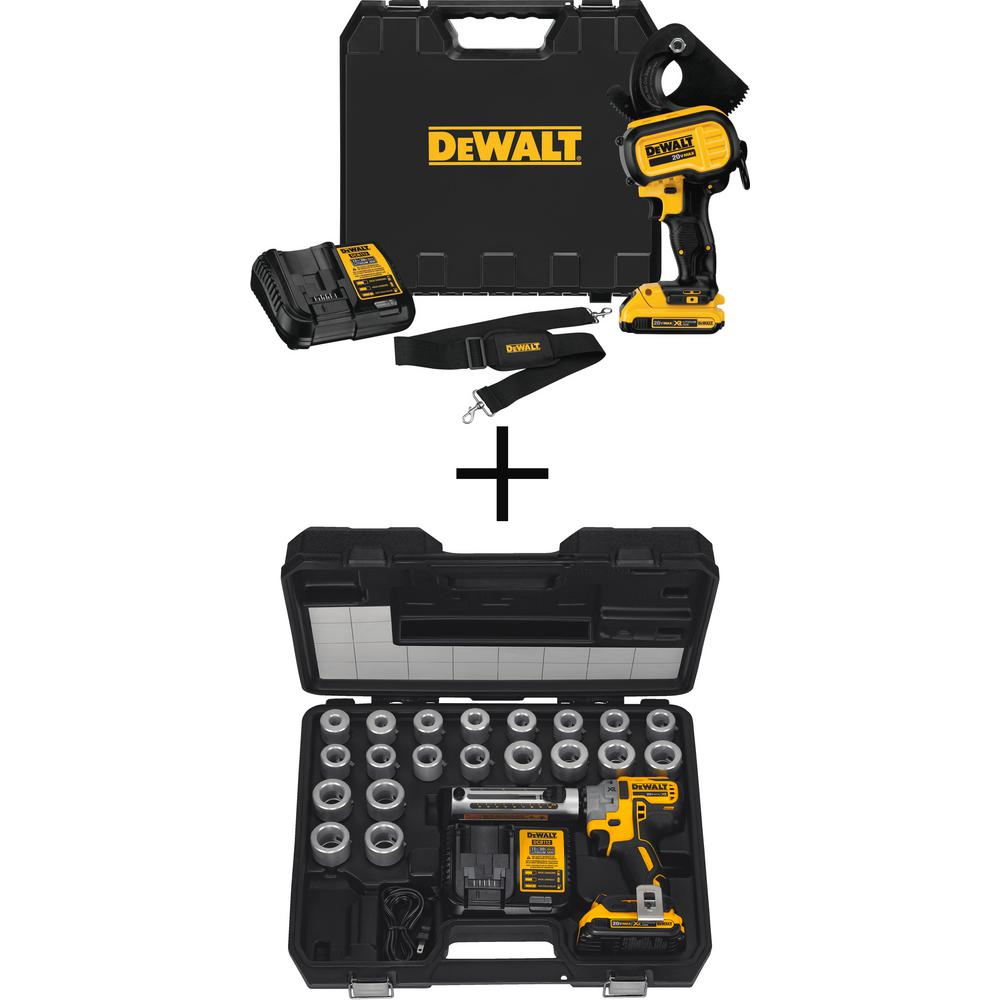 DEWALT 20-Volt MAX Lithium-Ion Cordless Cable Cutting Tool Kit with Bonus Cordless Cable Stripper Kit