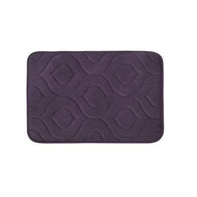 Naoli Plum 17 in. x 24 in. Memory Foam Bath Mat