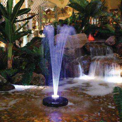 550 GPH Floating Spray Fountain Pump with LED Lights