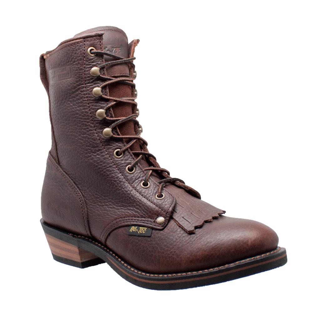 60116a0aa27a Adtec Men s Wide 11.5 Chestnut Tumbled Leather Western Boot-1173 ...
