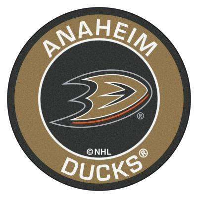 NHL Anaheim Ducks Gold 2 ft. x 2 ft. Round Area Rug