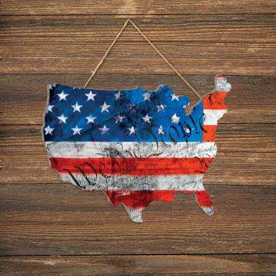 """WTP (We The People) American Flag"" by Tim Dardis Wood Wall Art"