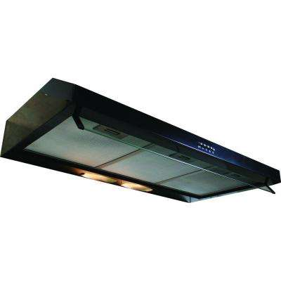 Builder Series 36 in. 300 CFM Under Cabinet Hood with Light in Black
