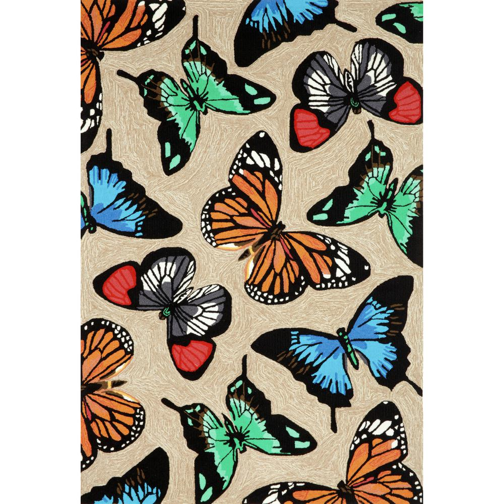 Woodside Colorful Wings Multi 5 ft. x 7 ft. 6 in. Indoor/Outdoor Area Rug