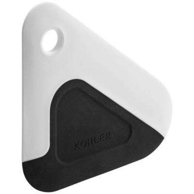 Silicone/Nylon Multi-Edge Dish Scraper in White