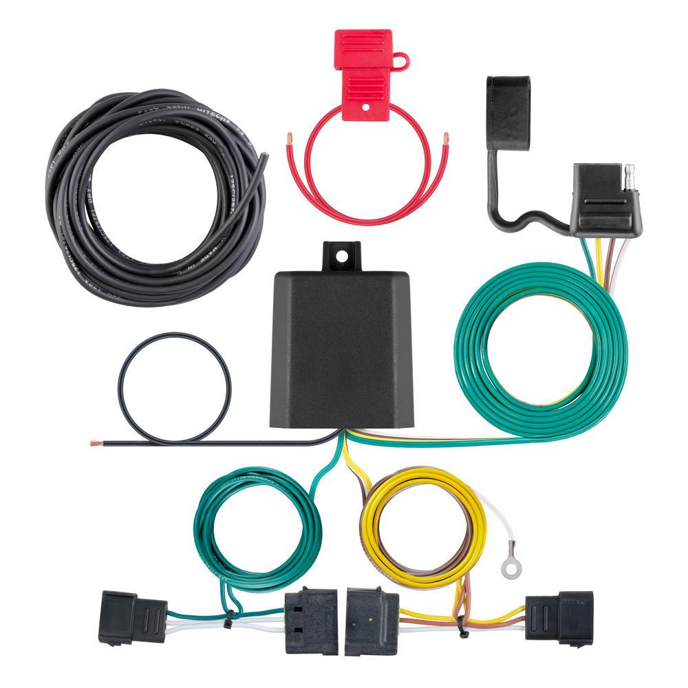 Phenomenal Curt Custom Wiring Harness 4 Way Flat Output 56329 The Home Depot Wiring Digital Resources Helishebarightsorg