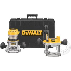 Dewalt 2-1/4 HP Electronic Variable Speed Fixed Base and Plunge Router Combo Kit with Soft... by DEWALT