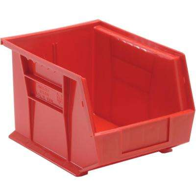 Ultra Series Stack and Hang 6 Gal. Storage Bin in Red (6-Pack)