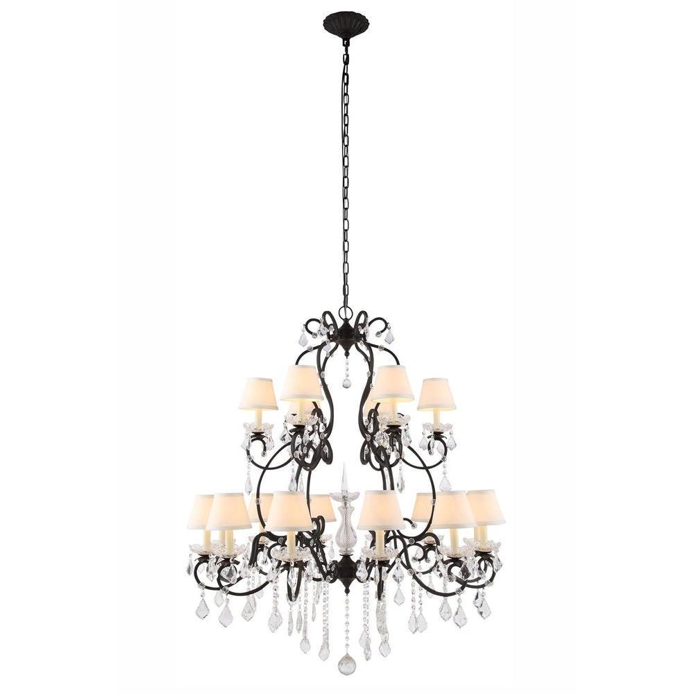 Elegant lighting diana 24 light vintage bronze chandelier 1471g44vb elegant lighting diana 24 light vintage bronze chandelier arubaitofo Image collections