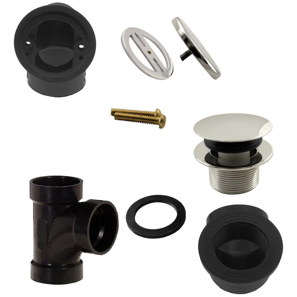 Illusionary Overflow, Sch. 40 ABS Plumbers Pack with Tip-Toe Bath Drain