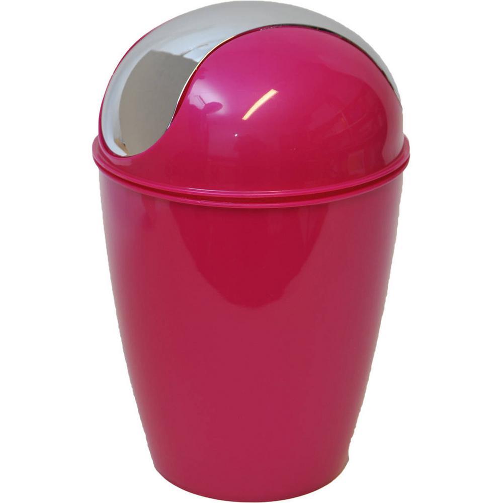 4.5 l/1.2  Gal. Round Bath Floor Trash Can Waste Bin in Pink