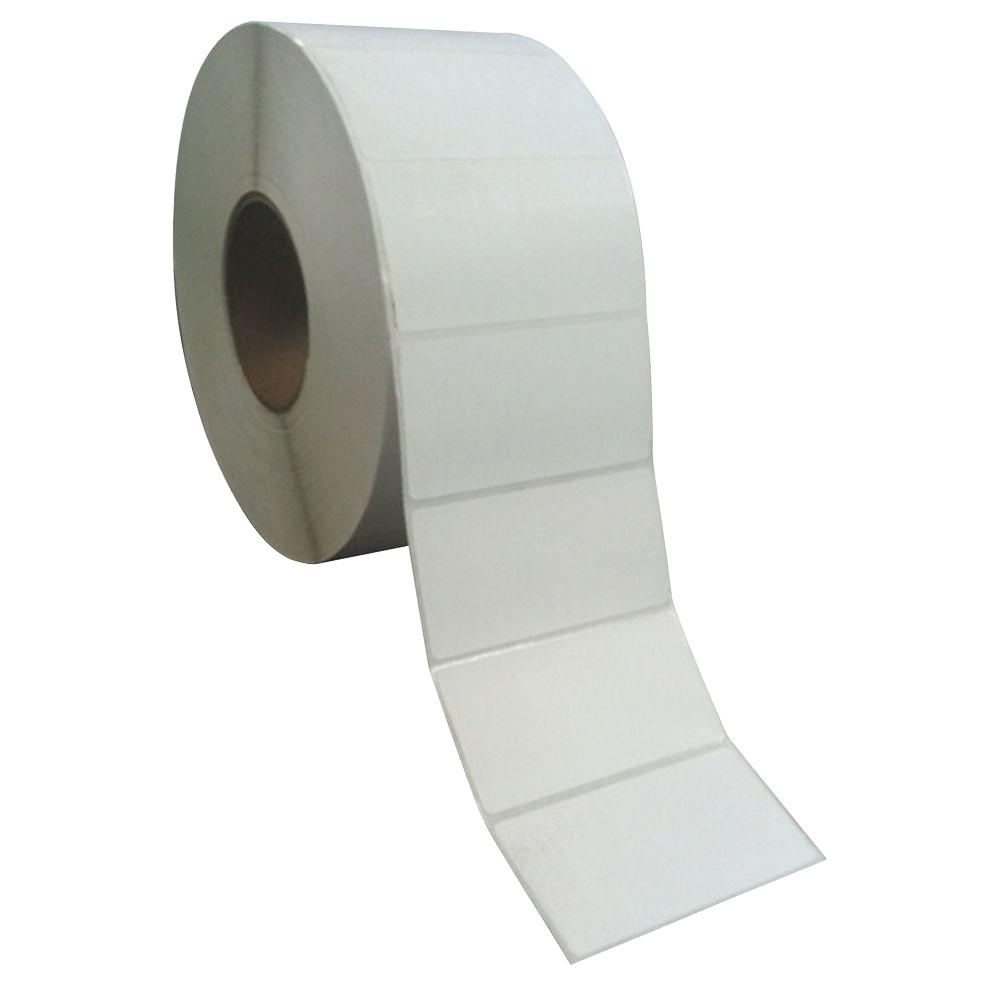Sparco 4 in. x 2 in. 12,000 Direct Thermal Labels, White (12,000-Carton) Direct thermal labels offer an economical way to print labels one at a time or in large batches. Perforated material allows fast, simple separation. Self-adhesive reliably sticks to surfaces for convenient use. Easy-to-install design allows virtually immediate use when replacing depleted rolls. Thermal labels are perfect for shipping, identification, price labels and more. Color: White.