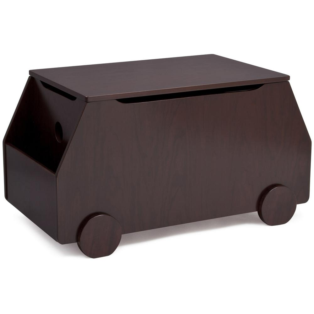 Metro Black Cherry Espresso Toy Box