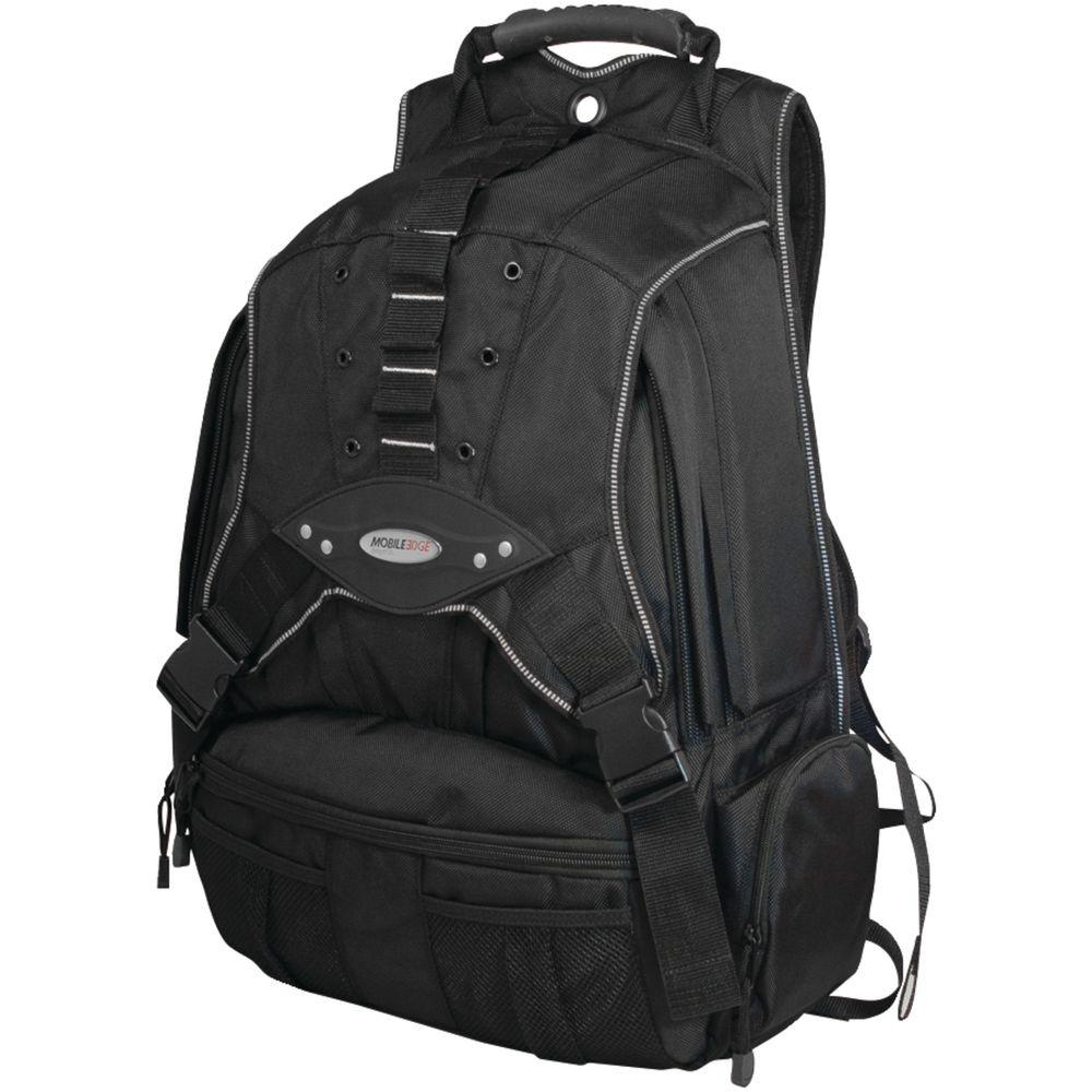 17.3 in. Black/Charcoal Premium Notebook Backpack