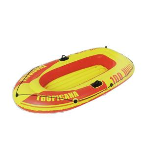 Pool Central 72 inch Red and Yellow Tropicana 100 Inflatable Single Person Boat by Pool Central