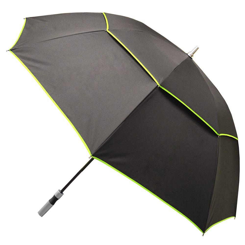 Color Trim X-Large Black Manual Umbrella