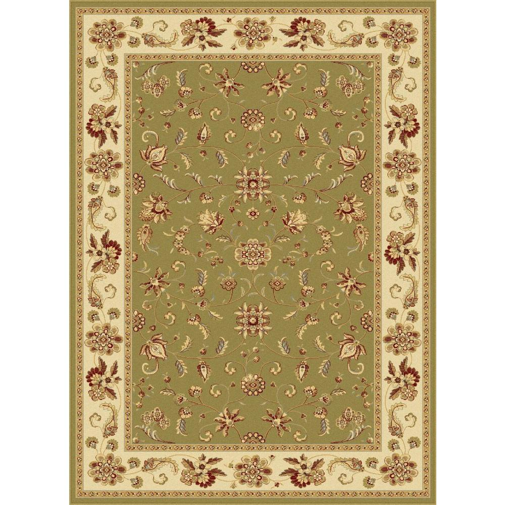 Tayse Rugs Century Green 5 ft. 3 in. x 7 ft. 3 in. Traditional Area Rug