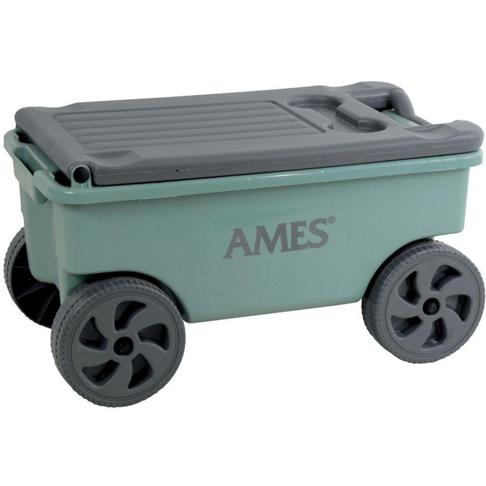 ames 2 cu ft poly lawn cart - Ames Garden Cart