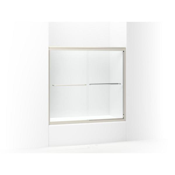 "Sterling 5425-59DR-G03 Finesse 54.625""-59.625""W x 55.5""H Frameless Sliding Bathtub Door, Available in Various Colors"