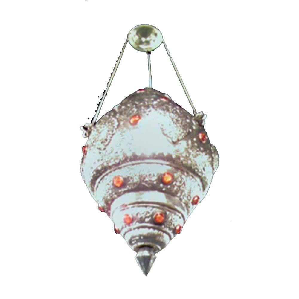 Filament Design Xavier 1-Light Silver Pendant