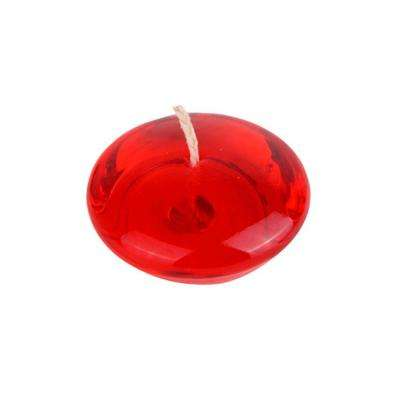 3 in. Clear Red Gel Floating Candles (6-Box)