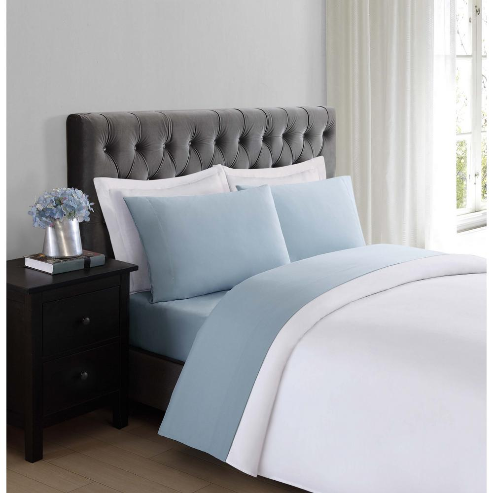 Truly Soft Everyday Light Blue Queen Sheet Set