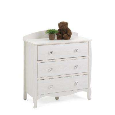 Lindsay 3-Drawer White Dresser