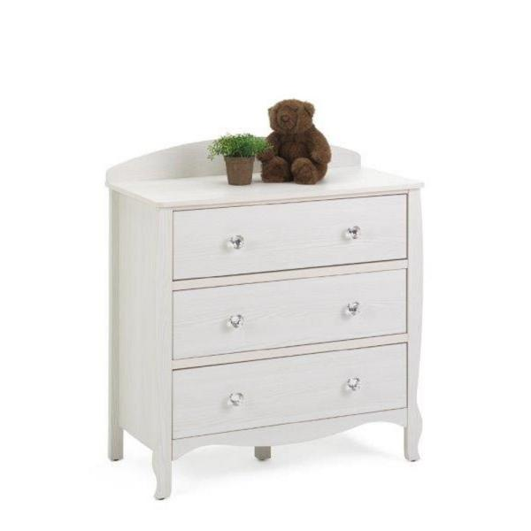 4D Concepts Lindsay 3-Drawer White Dresser 28413
