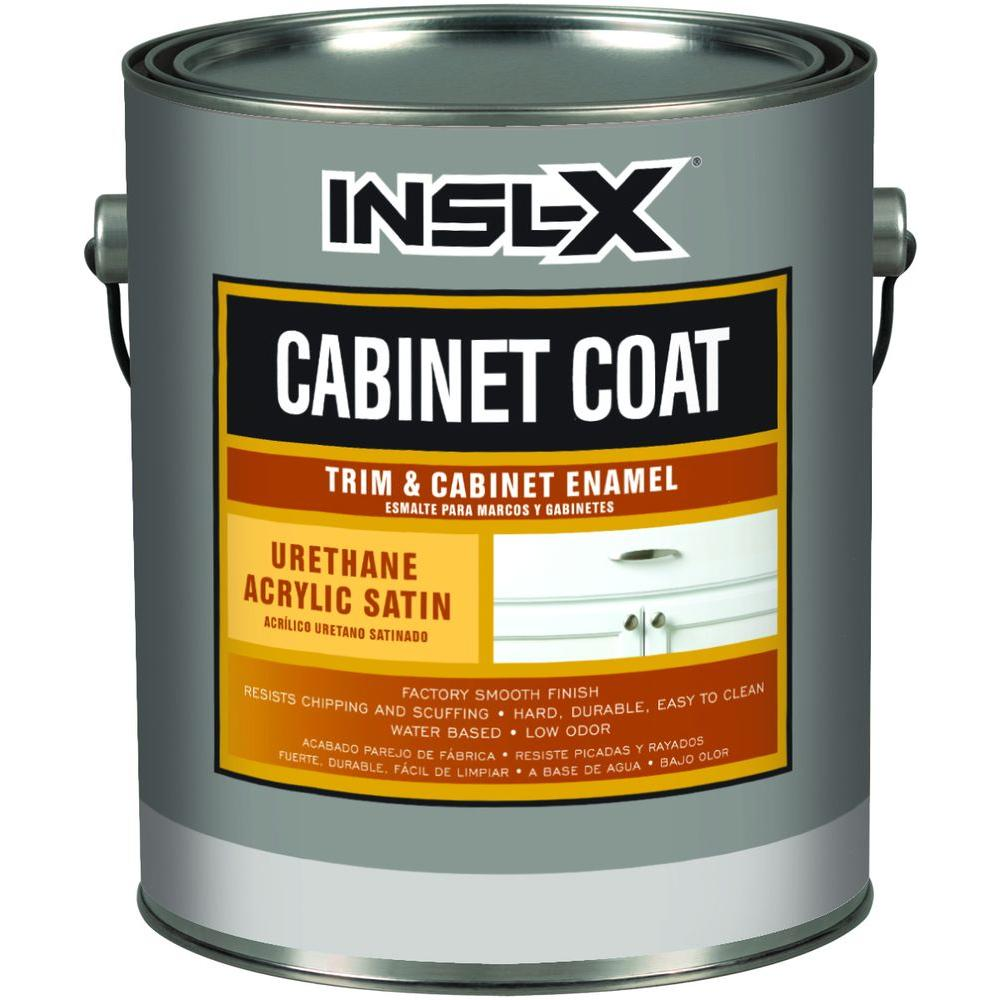 home depot cabinet paint CabinetCoat 1 Qt. White Satin Interior Trim and CabiEnamel  home depot cabinet paint