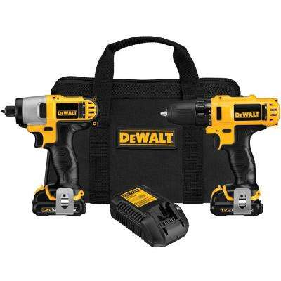 12-Volt MAX Lithium-Ion Cordless Drill/Driver and Impact Combo Kit (2-Tool) with (2) Batteries 1.5Ah, Charger and Bag
