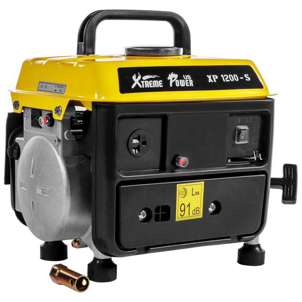 1,000-Watt 63 cc 2-Stroke Recoil Gasoline Powered Portable Generator