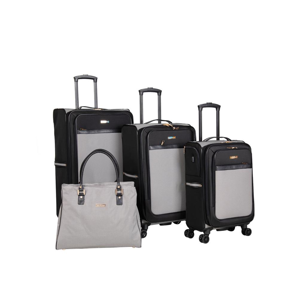 Isaac Mizrahi Greenwich 4 Piece Spinner Luggage Set Im144