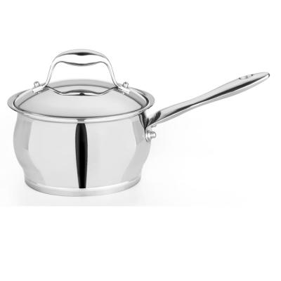 Zeno 2 Qt. 18/10 Stainless Steel Sauce Pan with Lid