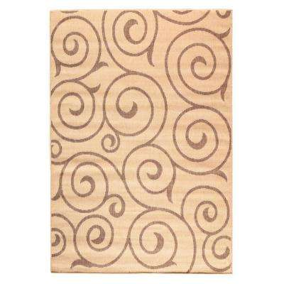 Whirl Cocoa/Natural 9 ft. x 13 ft. Area Rug