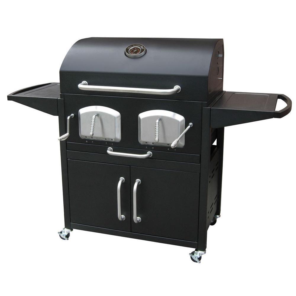 Bravo Premium Charcoal Grill in Black